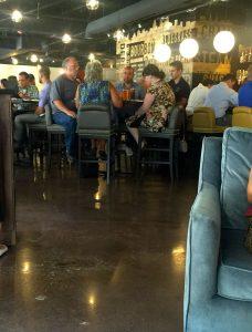 Gathering at the bar