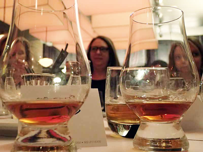 Pappy Van Winkle bourbon pours. | Photo by Steve Coomes