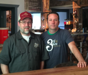 Partners Greg Hayden and Brian Minrath at Jtown's 3rd Turn Brewery