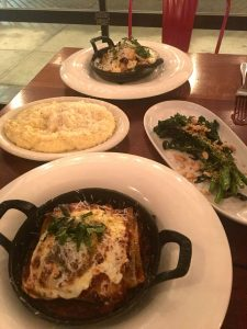 Lunch dishes, including two new lasagnas, at Mercato