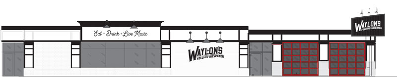 An architect's rendering of Waylon's future exterior.